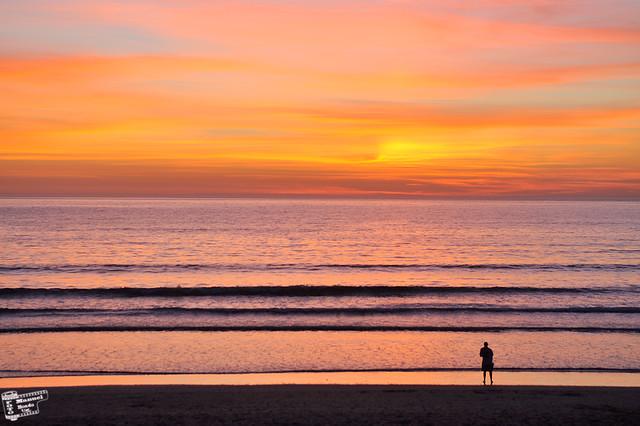 La Lanzada - puesta de sol