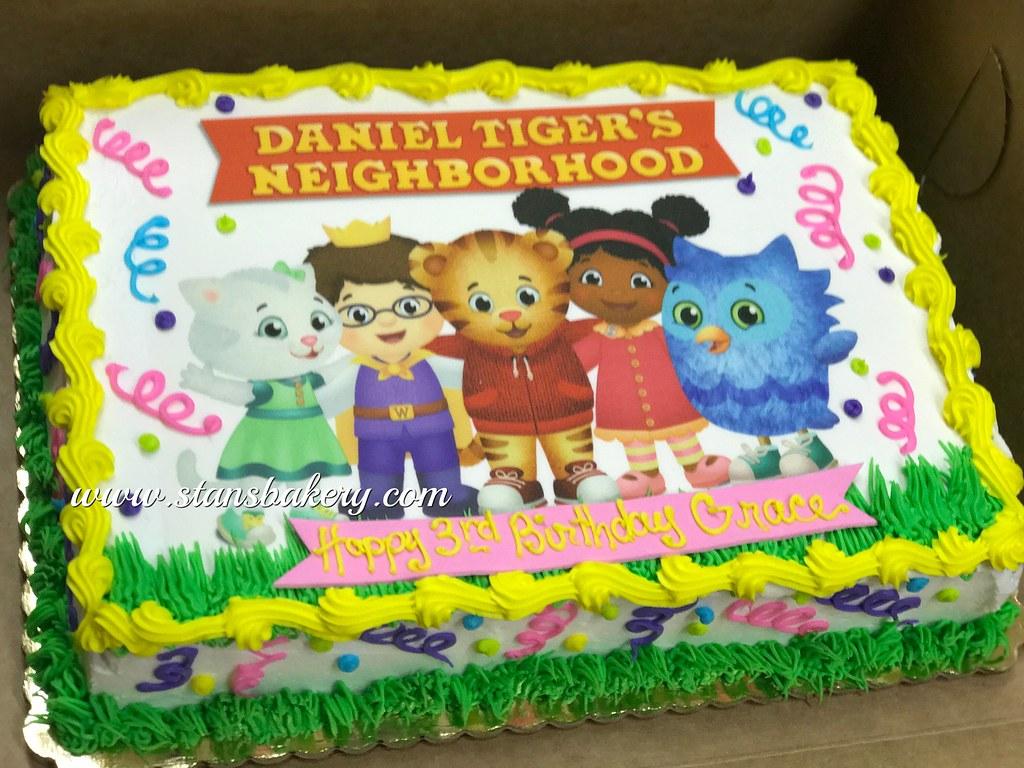 Sensational Daniel Tiger Birthday Cake A Photo On Flickriver Funny Birthday Cards Online Elaedamsfinfo