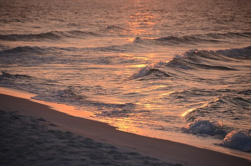 pensacolabeach florida waves sunrise