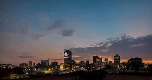 night johannesburg lights sunset sunrise dusk dawn nikon city capital sun house clouds cloud sky outdoor street building long exposure skylines morning southafrica pano panorama panoramic
