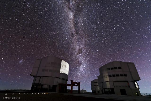 UT3 & UT4 against the Milky Way
