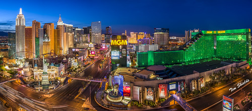 Las Vegas Strip high resolution panorama   by Tim Shields BC
