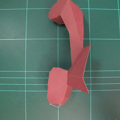 วิธีทำโมเดลกระดาษตุ้กตาคุกกี้รัน คุกกี้รสฮีโร่ (LINE Cookie Run Hero Cookie Papercraft Model) 023