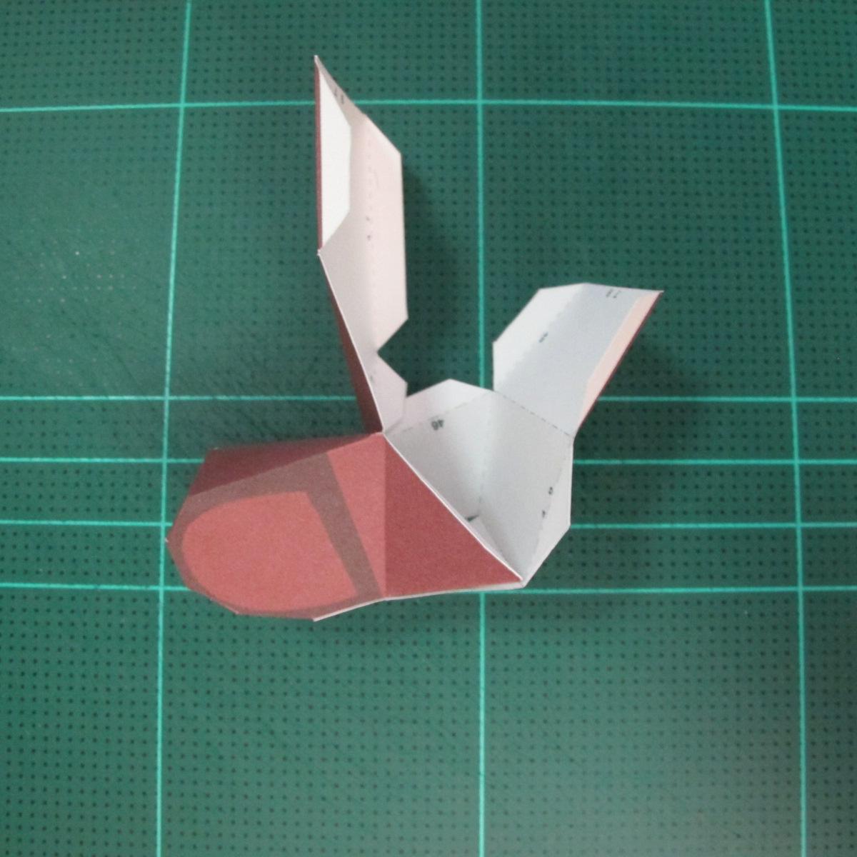 วิธีทำโมเดลกระดาษตุ้กตาคุกกี้รัน คุกกี้รสฮีโร่ (LINE Cookie Run Hero Cookie Papercraft Model) 013