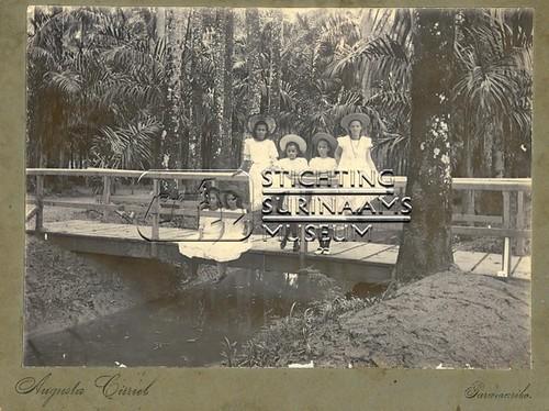 Meisjes op brug in Palmentuin | by Stichting Surinaams Museum