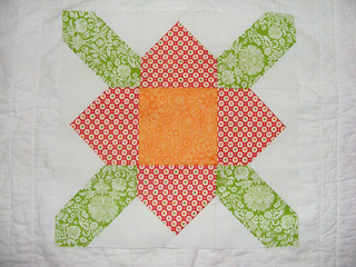 May quilting newBees block for Diane