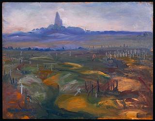 Battlefields from Vimy Ridge, Lens-Arras Road / Champs de bataille de la crête de Vimy, sur la route entre Lens et Arras