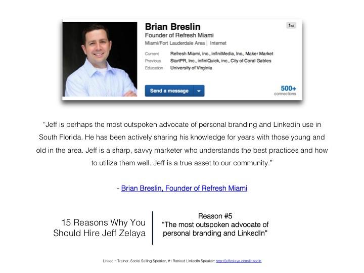 Brian Breslin Reviews Miami Personal Branding & LinkedIn E… - Flickr