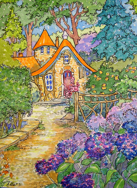 Just Past the Hydrangeas Storybook Cottage Series