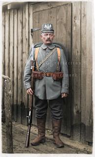 Tschako-wearing old-timer of a Landwehr Regiment restored in his glory