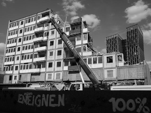 Esso Häuser - der Abriss