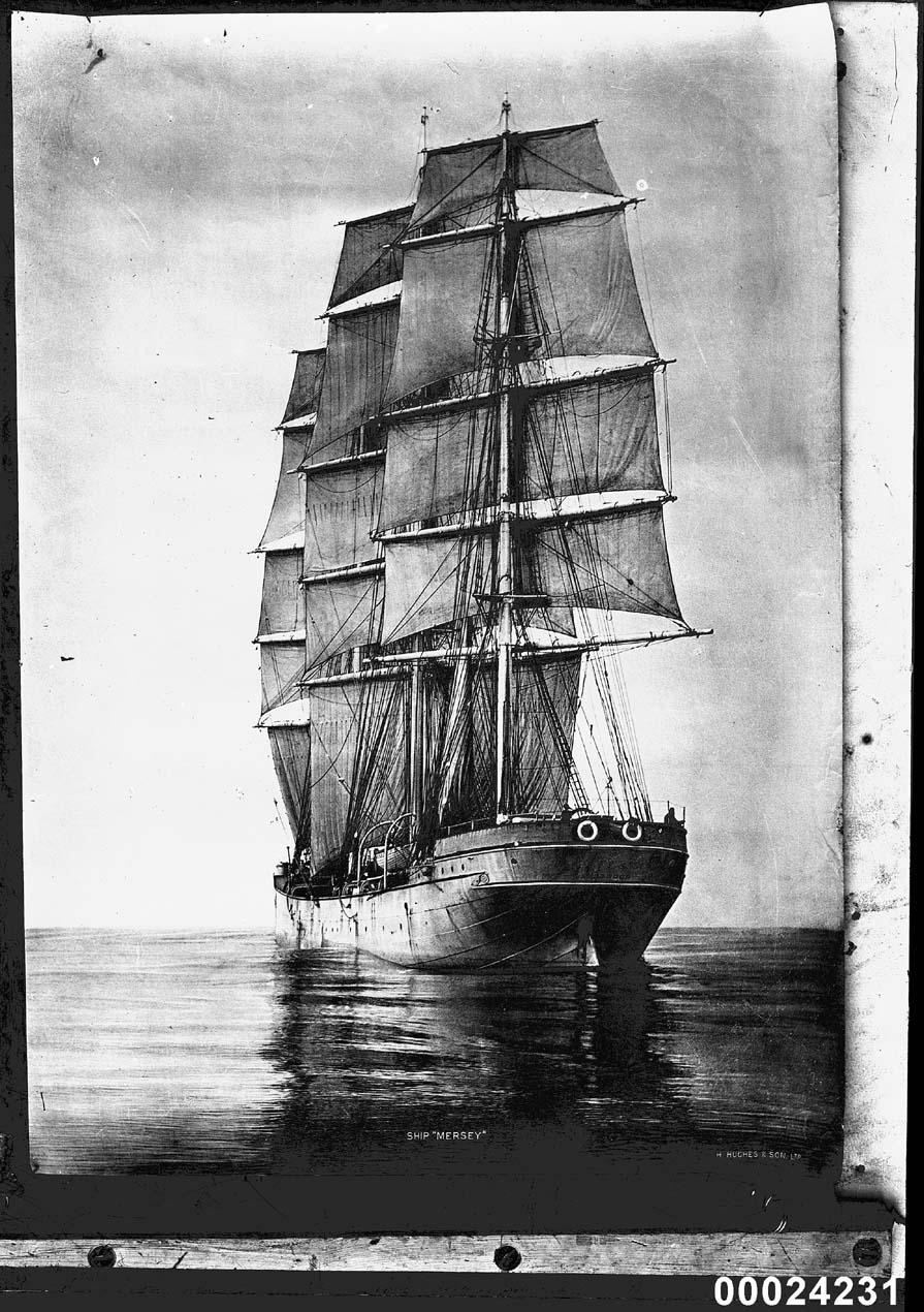 MERSEY at sea