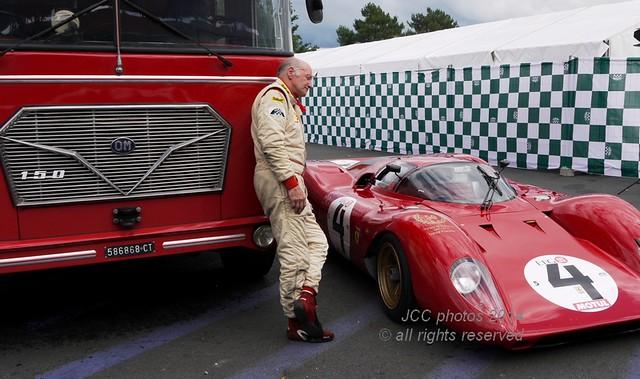 Le Mans Classic 2014 David Franklin Ferrari 312P 0872 1969