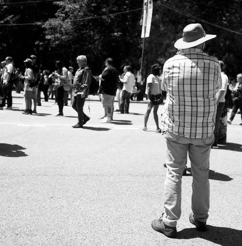 """Image titled """"Man in Hat, Chicago."""""""