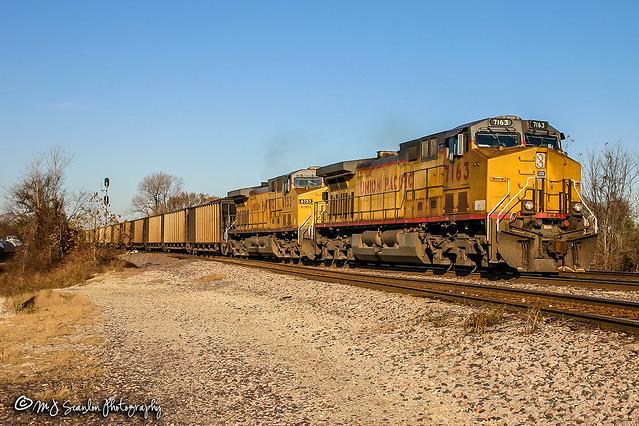 UP 7163 | GE AC44CW | UP Memphis Subdivision