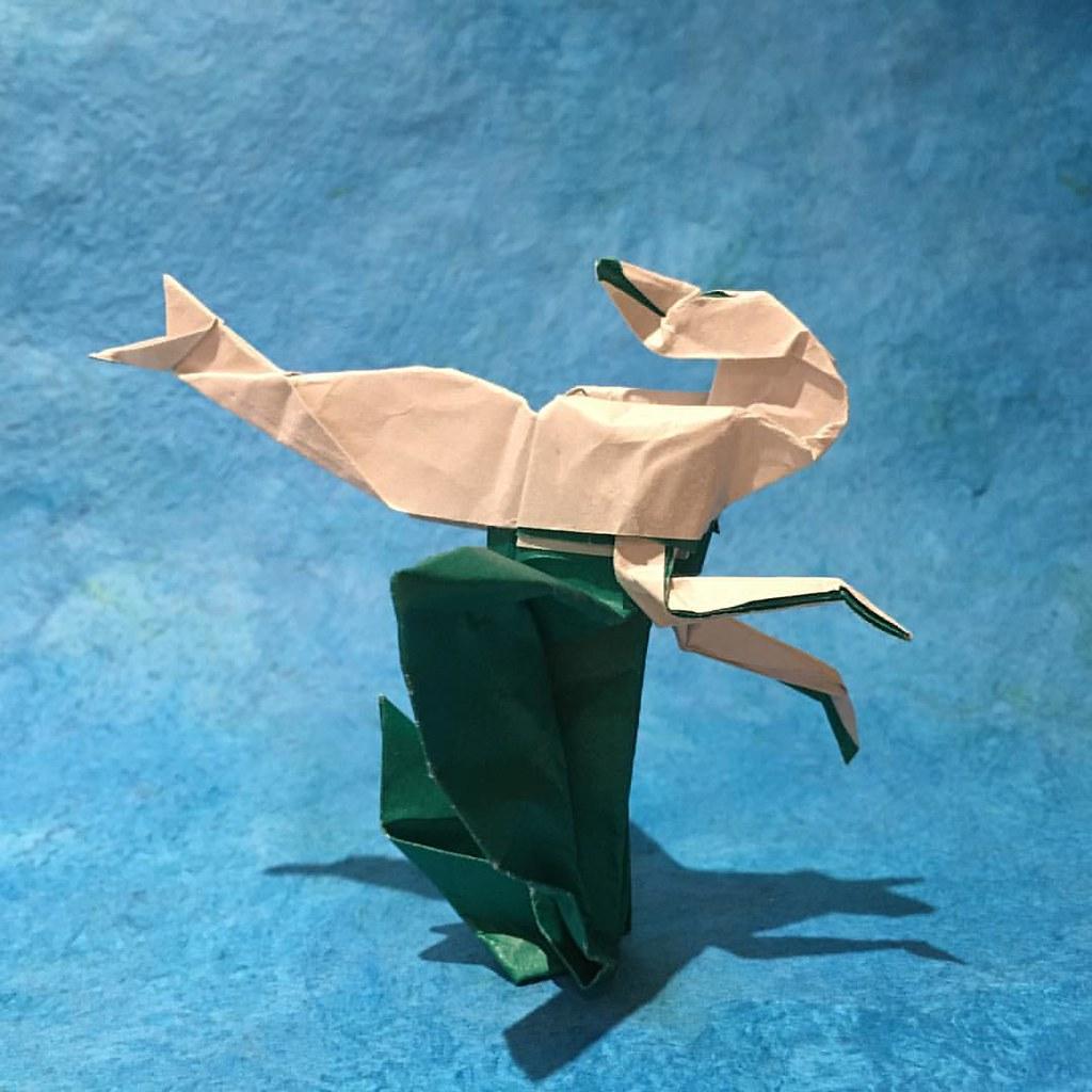 Uber Cute Origami Mermaid | Pink Stripey Socks | 1024x1024