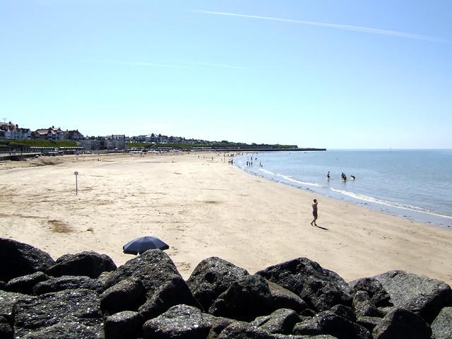 The coast west of Margate