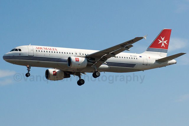 9H-AEK Air Malta A320-200 London Heathrow Airport Archive