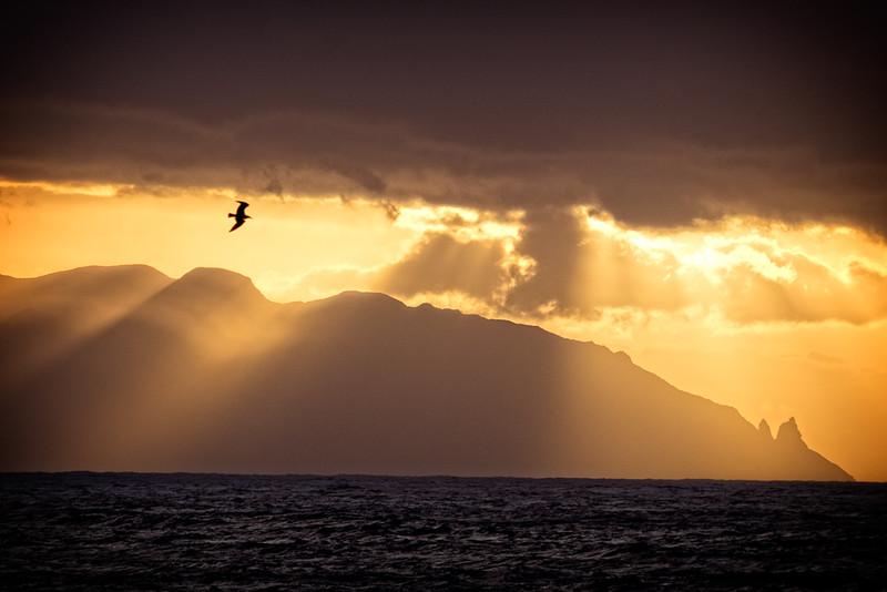 Sunset towards La Gomera