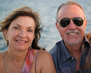Parents of the Bride on the Cabo Sunset Cruise | by nan palmero