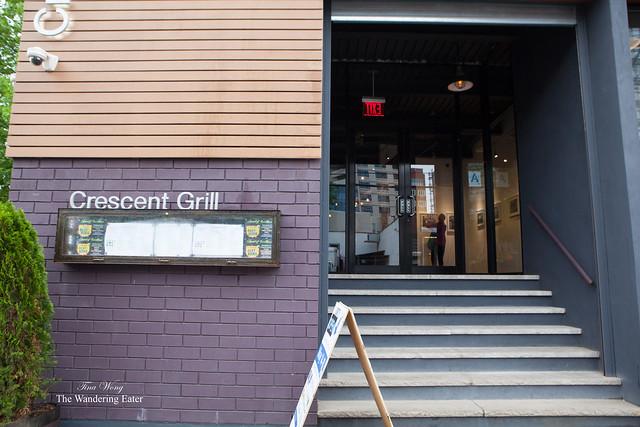 Exterior of Crescent Grill