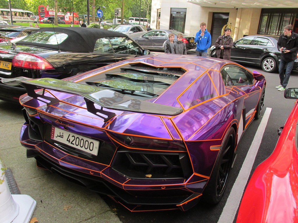 Chrome Purple Lamborghini Aventador Dorchester Hotel Par Flickr