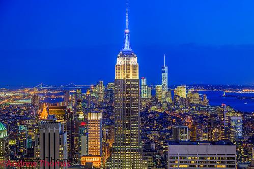 nyc usa newyork building state center empire bluehour rockefeller manhatten ef24105mm andrewthomas canon5dmk3