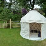 Mini Yurt & Cleft Fencing