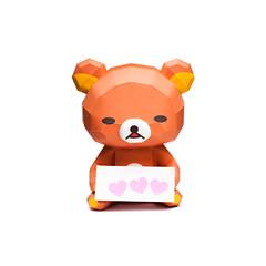 rilakkuma-sitting-bear-papercraft-model-thumb