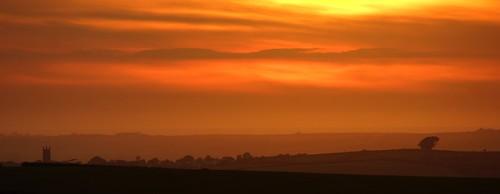 light sunset sky sun colour tree church june landscape evening cornwall moor bodmin stevemaskell 2014