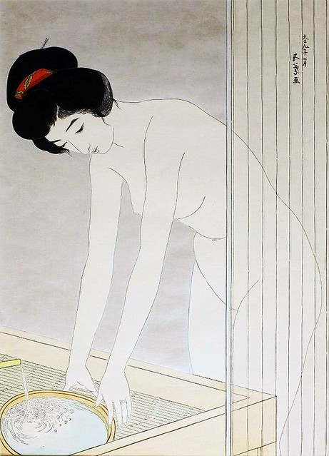 Hashiguchi Goyo (1880-1921) - Woman Washing Her Face (Walters Art Museum, Baltimore, Maryland, USA)