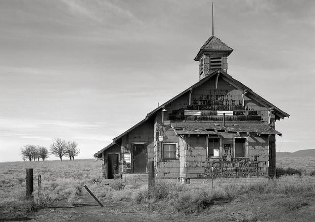 Abandoned Schoolhouse, Goodnoe Hills, Washington