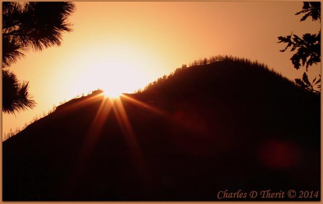 Sunset over the Waldo Canyon Burn Scar