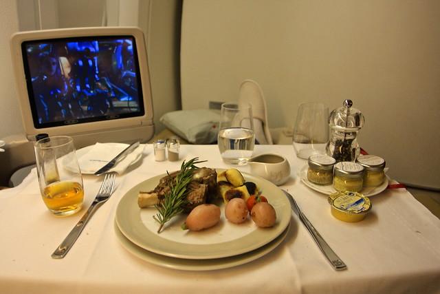 Air France First Class Meal - 777-300ER
