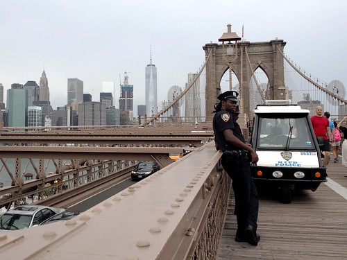 NYPD on Brooklyn Bridge | by AMcUK