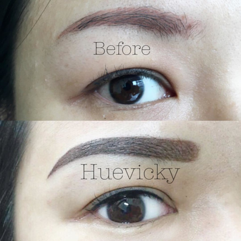 Covered up old fashion eyebrows work and eyeliner tattoo f… | Flickr