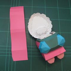 วิธีทำโมเดลกระดาษตุ้กตาคุกกี้รัน คุกกี้รสสตอเบอรี่ (LINE Cookie Run Strawberry Cookie Papercraft Model) 030