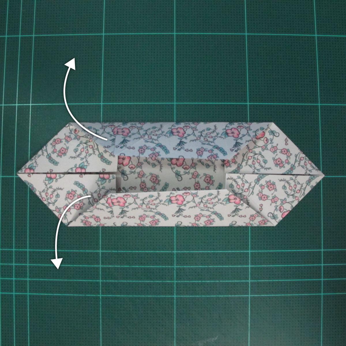 วิธีพับกระดาษรูปหัวใจคู่ (Origami Double Heart)  009