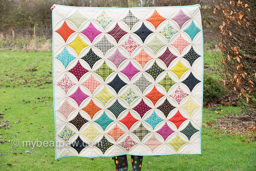 Cathedral Window quilt for Love Patchwork & Quilting mag