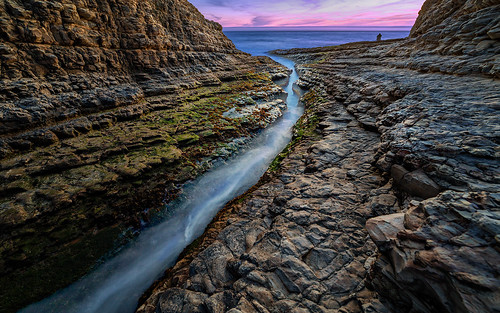 ocean california ca longexposure sunset landscape rocks waves crack bayarea davenport