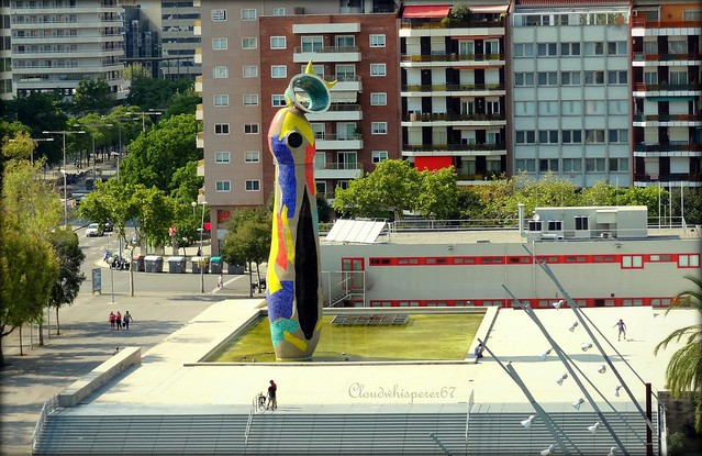 Woman & Bird by Miro - Barcelona