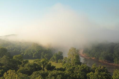 statepark cloud fog sunrise river spring missouri castlewood meramecriver