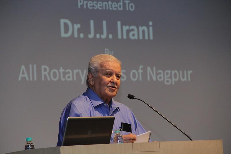 Lifetime Vocational Excellence Award to Dr. JJ Irani