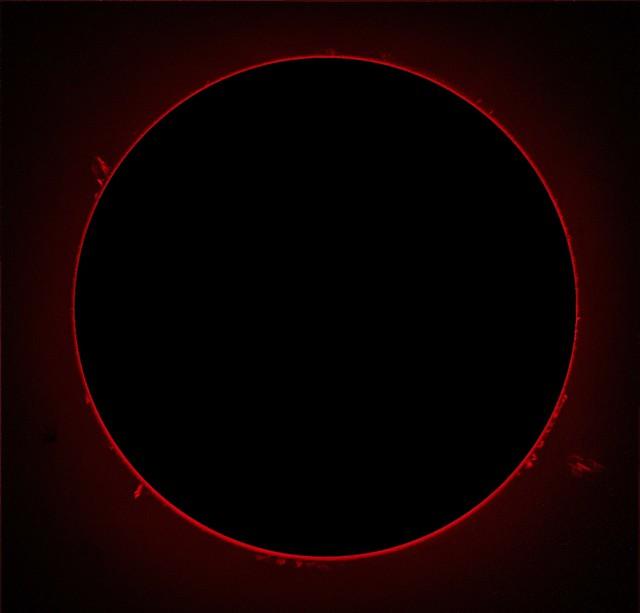 Sun in H-alpha prominences 13/07/14