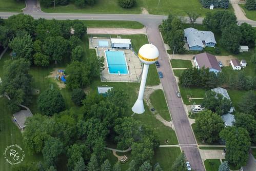 southdakota watertower aerialview sd citypark unioncounty alcester citypool 57001