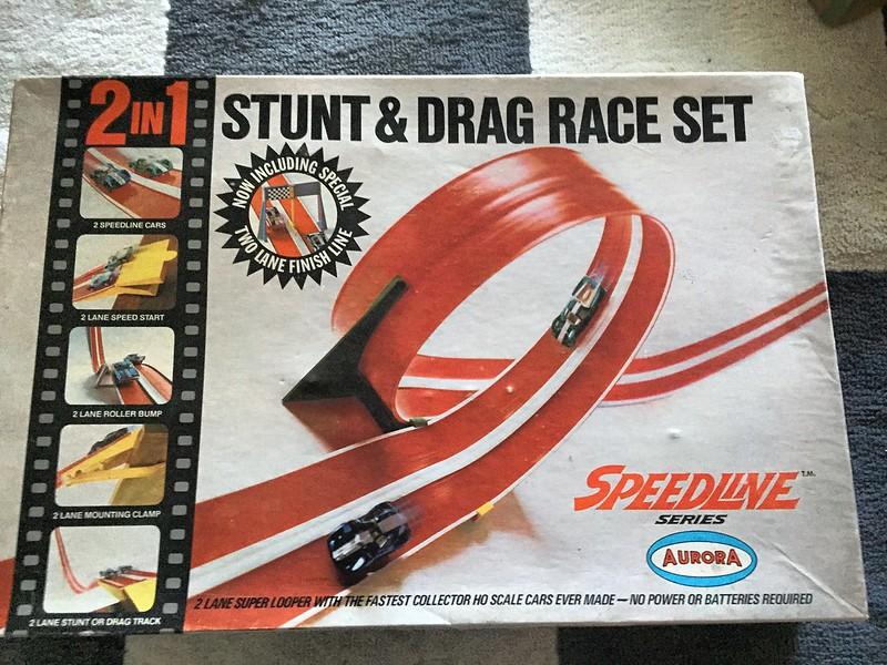 Aurora Speedline Stunt and Drag Set 1968