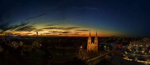 stpetercathedral oval city sunset dusk outdoors clouds colorfulsky church northadelaide australia