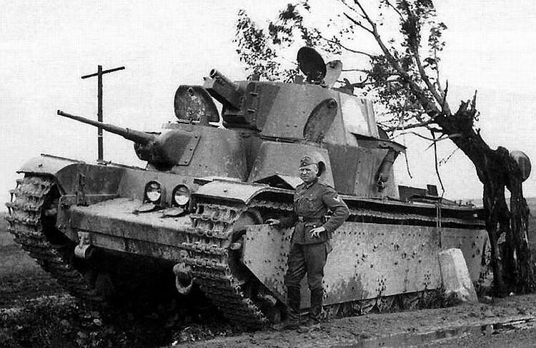 Хвърлени На Танк Т-35
