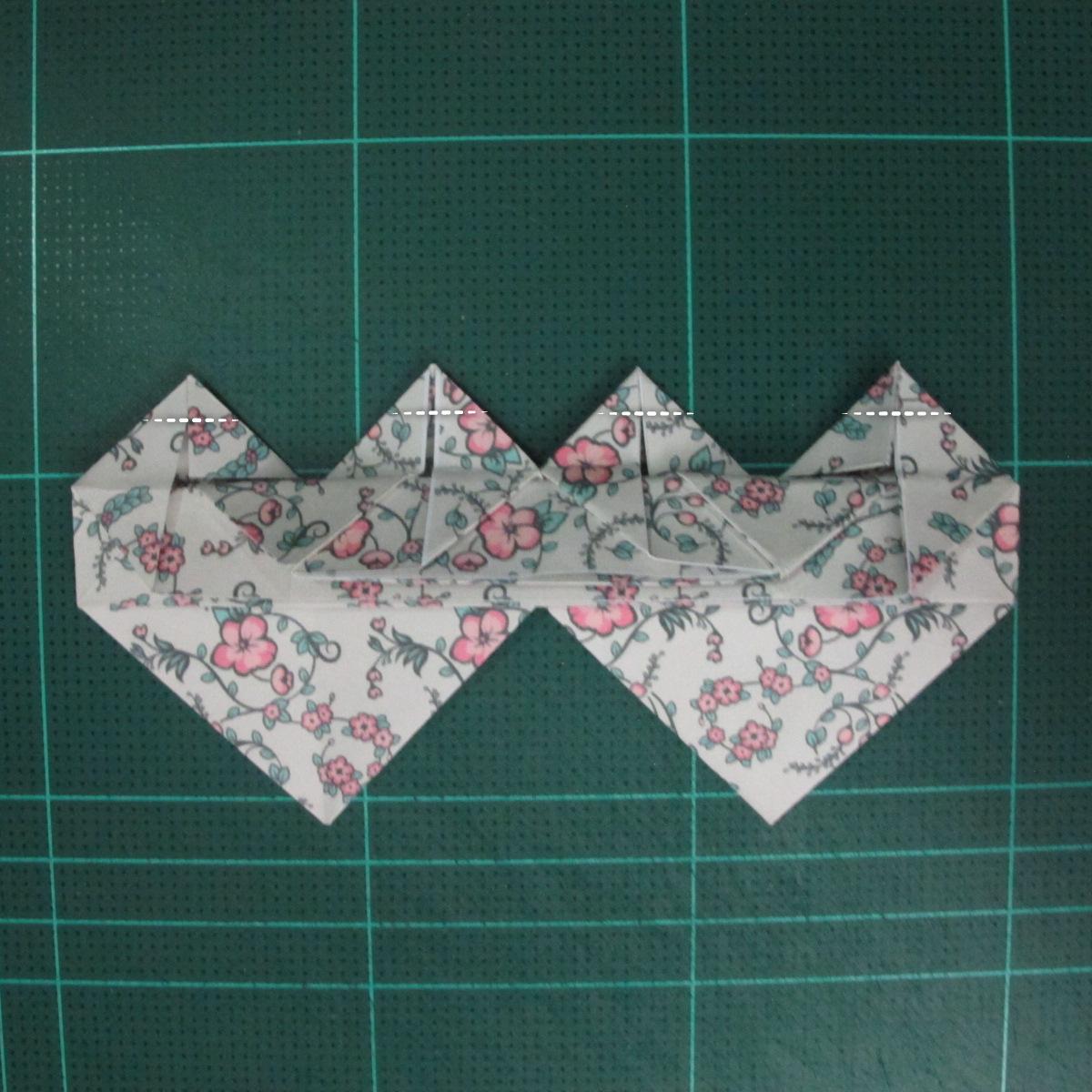 วิธีพับกระดาษรูปหัวใจคู่ (Origami Double Heart)  027