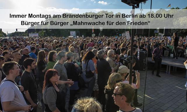 Mahnwachen für den Frieden in ganz Deutschland
